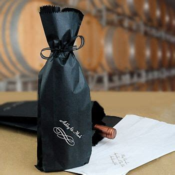 personalized paper wine bottle gift bags