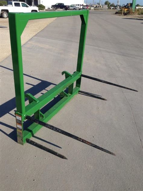 """2pcs 43/"""" Square Hay Bale Spear 3000lbs Capacity Agriculture Conus 2 Spike Fork"""