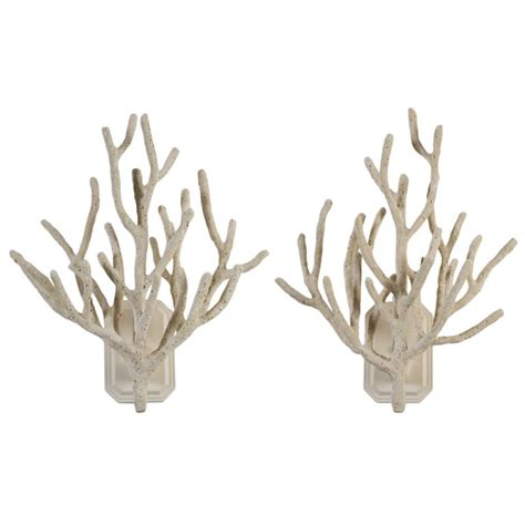 coral wall sconce a pair of faux coral wall sconces at 1stdibs