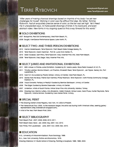 Resume Page Borders by A How To Guide For Designing Artists Resumes And Cvs Caren Hackman