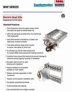 10 Kw Heat Strip For Comfortmaker Air Handlers Eb P  X  V   Wa  Fe  Fs  Fv  Fx Wkf1002