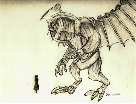 Bioshock Infinite Songbird Sketch By V0xic On Deviantart