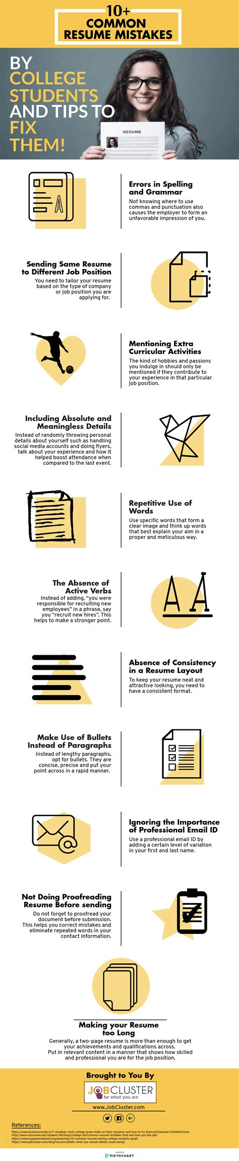11 common resume mistakes by college students and how to