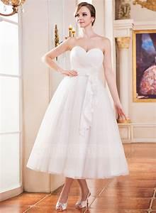 forme princesse bustier en coeur longueur mollet tulle With robe de mariée longueur mollet