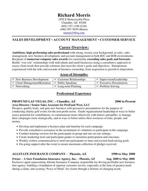 Insurance Resume Sle by Property And Casualty Insurance Resume