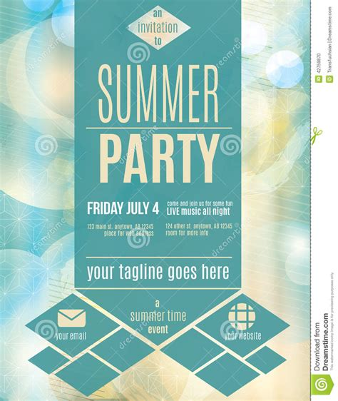 Templates For Flyers And Brochures Free by Modern Style Summer Flyer Template From Ov
