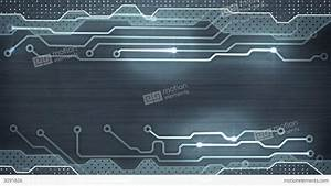 Grey Circuit Board Loopable Background Stock Animation ...