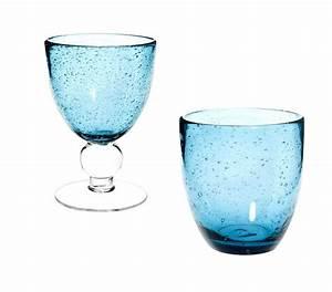 Verres à Vin Maison Du Monde : s lection de vaisselle de couleur bleue ~ Teatrodelosmanantiales.com Idées de Décoration
