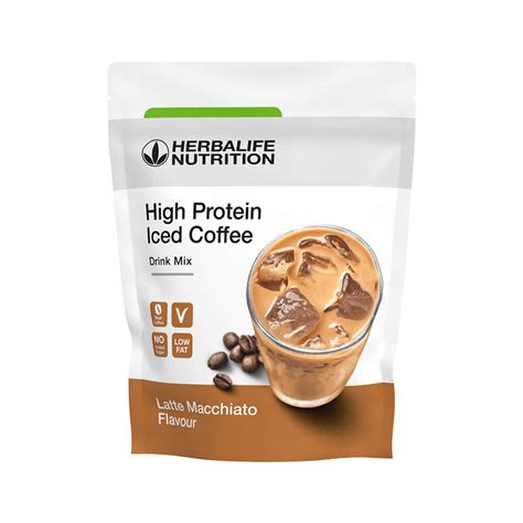 Herbalife nutrition just release a new high protein iced coffee drink mix which it claims is a low sugar alternative to high sugar coffeehouse iced coffees on october 15th 2018. Herbalife Independent Member - High Protein Iced Coffee