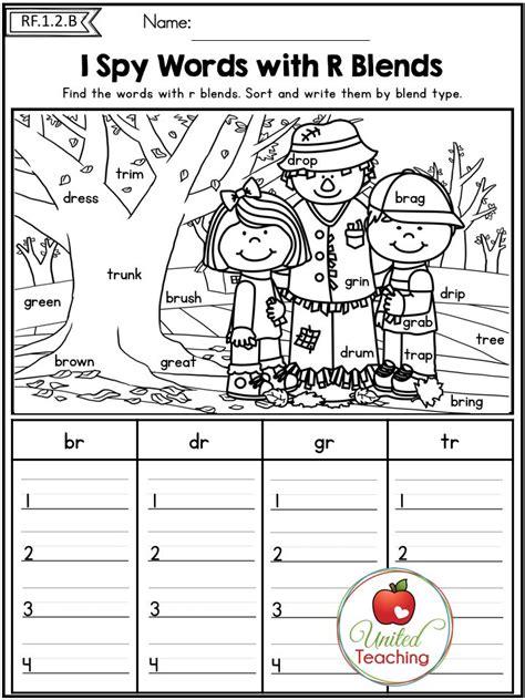 phonics worksheets for grade r autumn 1st grade no prep literacy worksheets phonics