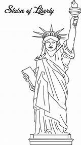 Liberty Statue Coloring Printable Pages Template Drawing Worksheets Stupendous Paper Getcoloringpages Read Sketch sketch template