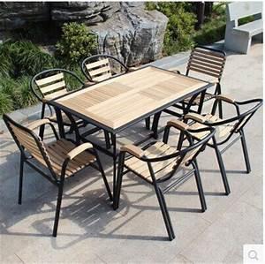 Table De Jardin Bois Et Metal : table de jardin en fer forg et bois table de lit ~ Teatrodelosmanantiales.com Idées de Décoration