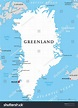 Greenland Political Map Capital Nuuk Important Stock ...
