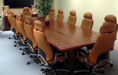conference room table furniture solid sapele wood conference tables custom table