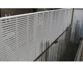 White Wood Privacy Screen