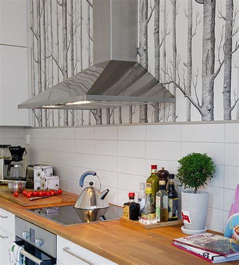papier peint de cuisine cuisine où poser papier peint pour un maximum d