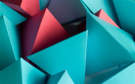 Abstract Geometric Shapes Wallpaper by Wallpaper Triangles Shapes Geometric 3d Hd Abstract