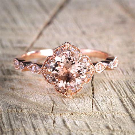 sale antique design  carat peach pink morganite