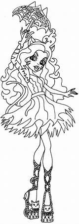 Monster Coloring Freak Toralei Chic Du Printable Stripe Lei Colouring Popular sketch template