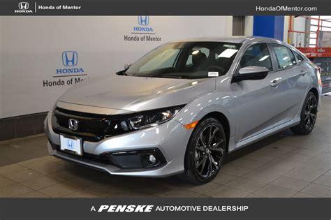 2019 New Honda Civic Sedan Sport Cvt At Honda Of Mentor