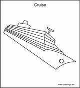 Cruise Ship Paquebot Coloring Transportation Dessin Printable Coloriage Kb sketch template