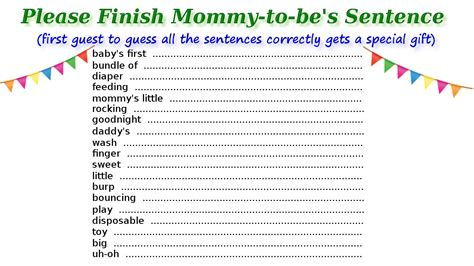 printable baby shower games  guests  surely