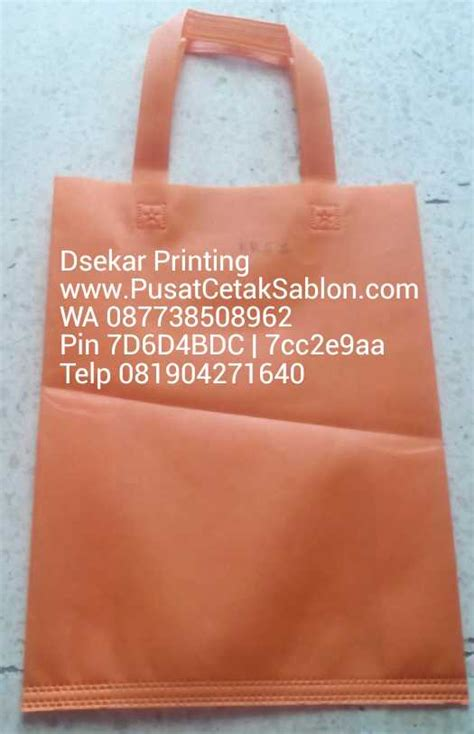 grosir tas kain spunbond  malang pusat cetak sablon