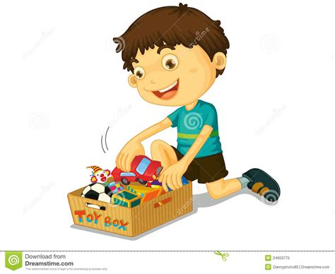 Boy Clipart Cleaning Room