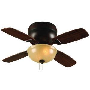home depot hugger ceiling fans hton bay aspen 36 in bronze patina hugger ceiling fan