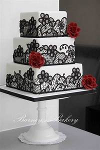 In Bella Idea Beautiful White And Red Wedding Cakes In ...