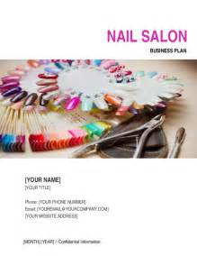 nail salon business plan template sle form