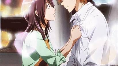 Anime Kiss Romance Fall Maid Sama Kimikiss