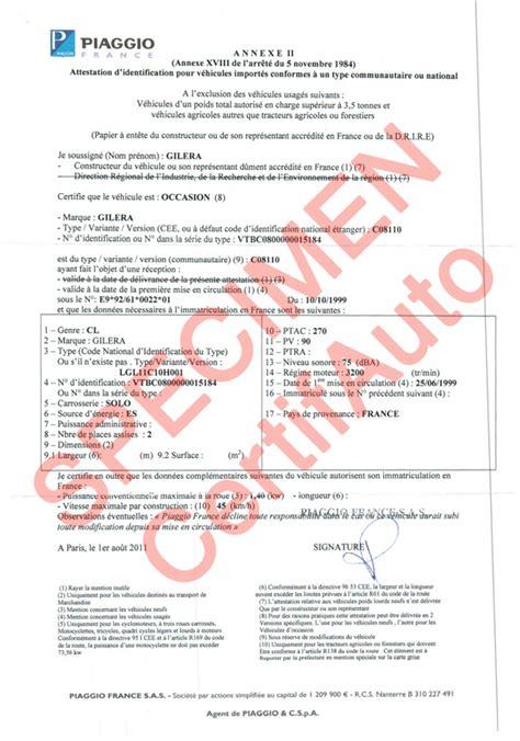 certifauto certificate  conformity