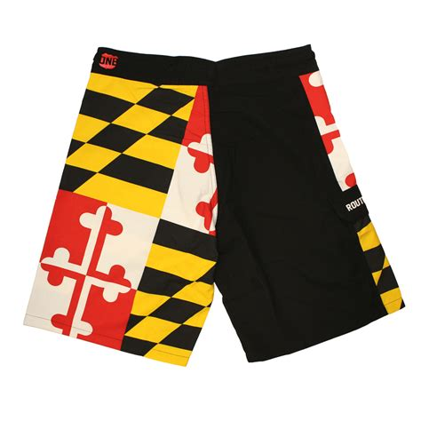 maryland flag board shorts route  apparel