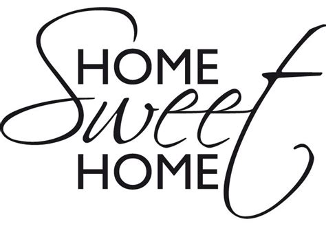 wall decal quote home sweet home interior decor