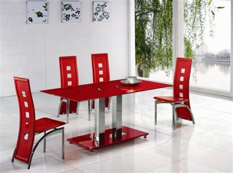 Ideen Fuer Esstisch Aus Europalettenpalletenesstisch In Rot by Esszimmerst 252 Hle Design Moderne Vorschl 228 Ge Archzine Net