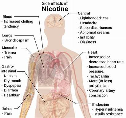 Nicotine Effects Side Smoking Cigarette Symptoms Cancer