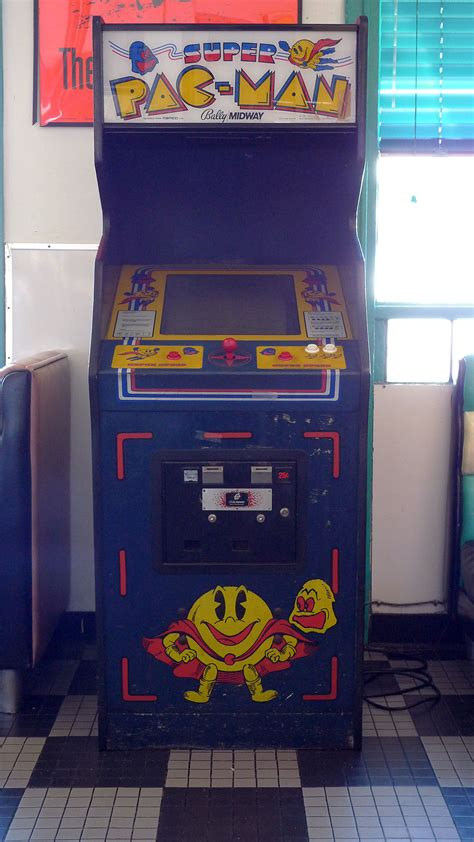 pac man arcade cabinet super pac man wikipedia