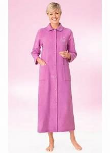 Robe de chambre peignoir femme afibel afibel for Robe de chambre boutonnée femme