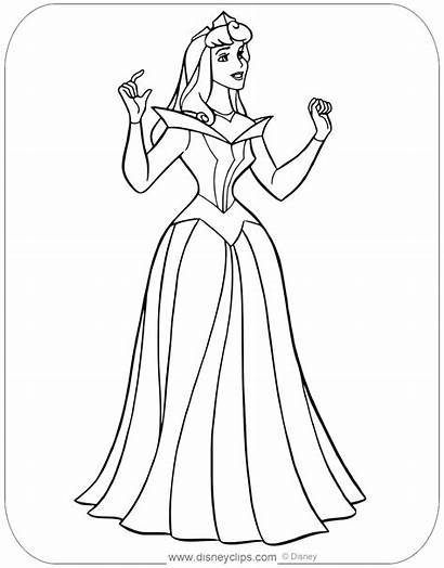 Aurora Coloring Princess Pages Sleeping Beauty Disney