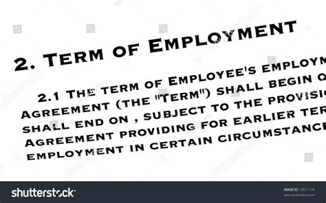 Terms Of Employment Stock Photo 13571176 Shutterstock