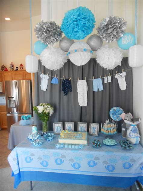 Decorating Ideas For Baby Shower Boy by Boy Baby Shower Baby Shower Baby Shower Decorations