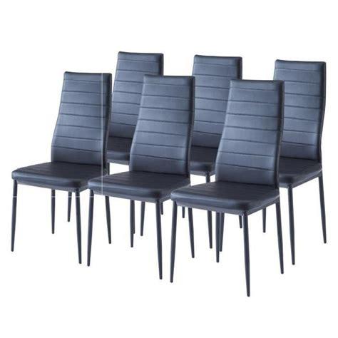 sam lot de 6 chaises de salle 224 manger noires achat vente chaise structure m 233 tal