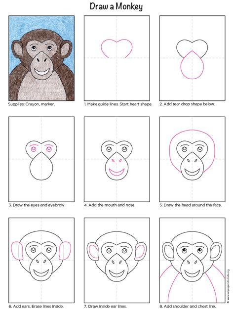 draw  monkey art projects  kids
