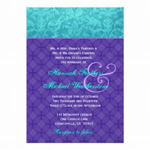 purple and turquoise wedding invitations announcements With royal blue and turquoise wedding invitations