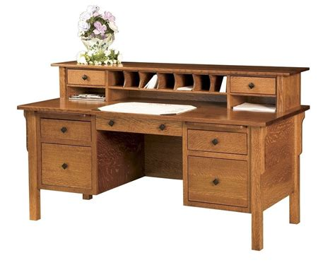 solid wood office desk amish computer file desk mission solid wood home office