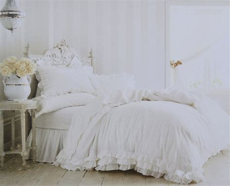 simply shabby chic rachel ashwell simply shabby chic white ruffle lace duvet set new 3pc full queen ebay