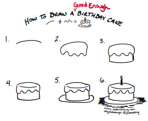 How To Draw A Good Enough Birthday Cake  Tutorial Image
