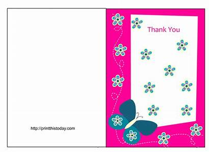 Thank Cards Card Printable Templates Butterfly Shower