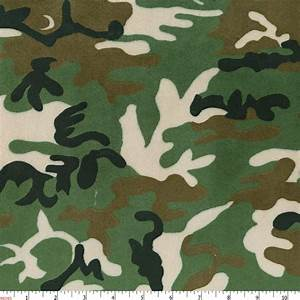 Green Camouflage Minky Fabric By The Yard